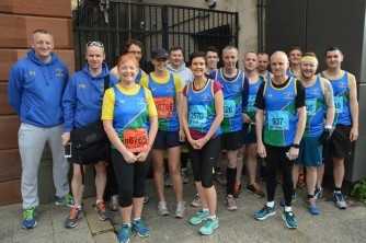 Mallusk Harriers at Belfast Marathon 2015